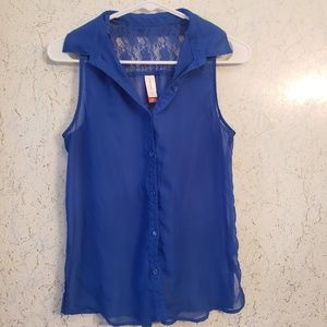 Tops - Blue Tanktop Size Small